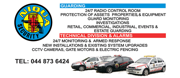 niqua security, Guarding and alarm monitoring, CCTV installation, electric fence, biometrics, gate motors, beams, installations of alarm, george, knysna, mossel bay, garden route